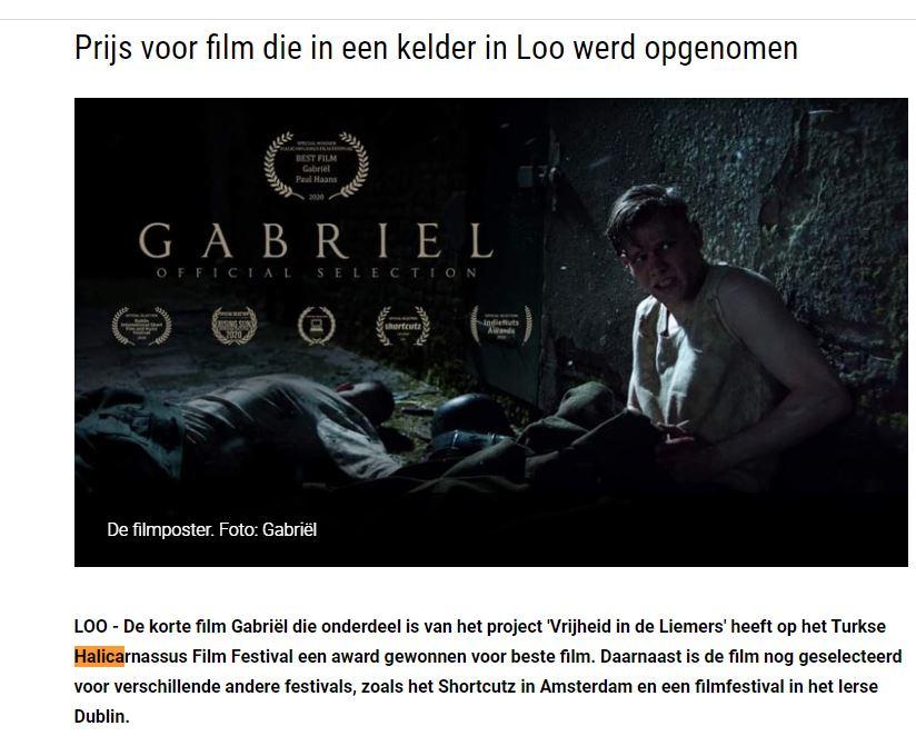 Prijs voor film die in een kelder in Loo werd opgenomen